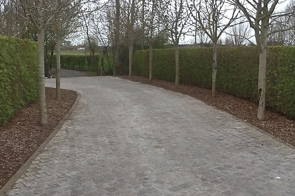 Tuinen deflou diksmuide tuinaanleg tuinonderhoud aanleg van opritten en terrassen aanleg - Tuin oprit plaat ...